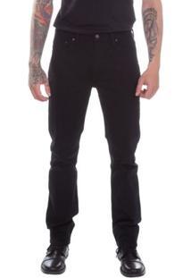 Calça Jeans Levis Masculino 513 Slim Straight - Masculino-Preto