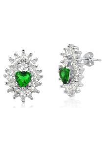 Brinco Le Diamond Sagrado Coraçáo Verde