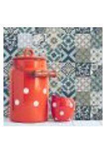 Adesivo De Azulejo Mediterraneo 15X15 Cm Com 18Un