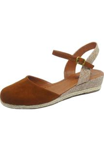 Anabela S2 Shoes Suede Caramelo
