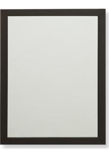 Espelho Com Moldura Em Madeira Linea 34X44Cm Marrom