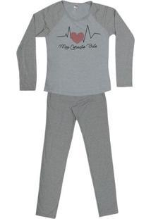 Pijama Longo De Inverno Feminino Sortido