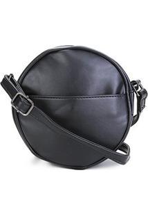 Bolsa Pagani Mini Bag Redonda Feminina - Feminino-Preto