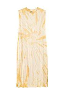 Vestido Midi Tie Dye Sem Mangas Amarelo