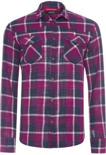 Camisa Masculina Western Clássica - Roxo