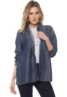 Camisa Jeans Forum Ampla Azul