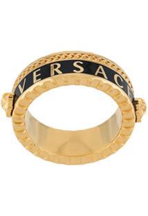 Versace Anel Com Detalhe De Logo - Dourado