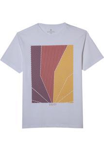 Camiseta Dudalina Manga Curta Malha Color Masculina (Branco, M)