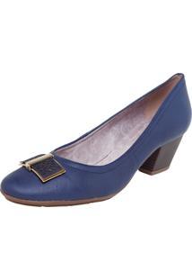 Scarpin Couro Bottero Fashion Azul