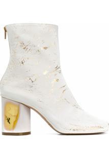 Maison Margiela Ankle Boot Com Salto - Branco