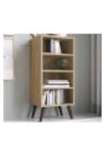 Estante Retro Para Livros Ou Decorativos Est100 Oak Completa Moveis