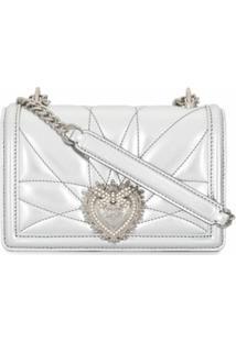 Dolce & Gabbana Bolsa Tiracolo Devotion Metálica - Metálico