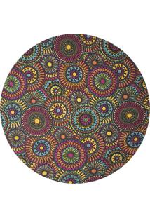Sousplat Para Prato Suporte De Mesa Decorativo Mandala Colors 30 Cm
