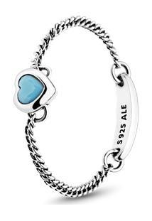 Anel Amuleto Do Amor Azul - 60