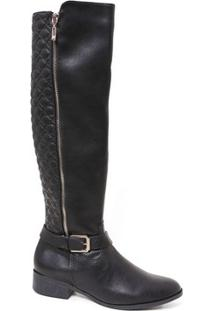 Bota Via Marte Over Knee 17-301 Feminina Cano Longo