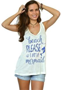 Camiseta Regata Nalu Rio Mermaid - Feminino-Off White