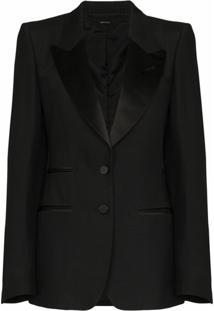 Tom Ford Blazer Com Abotoamento Simples - Preto