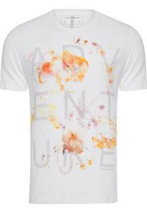 Camiseta Masculina Estampa Adventure - Branco