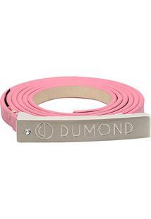 Cinto Dumond Fino Logo Feminino - Feminino-Rosa