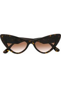 Dolce & Gabbana Eyewear Óculos De Sol Gatinho - Marrom