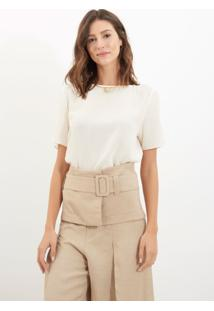 Blusa Le Lis Blanc Mica 4 Seda Branco Feminina (Glace, Gg)