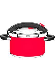 Panela De Pressão Tramontina Presto Inox Vermelho 6L - 16932