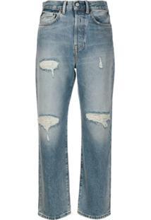 Acne Studios Calça Jeans Reta Cropped Mece - Azul