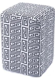 Puff Box Cashier Labirinto Retangular 46 Cm (Alt) - 50750 - Sun House