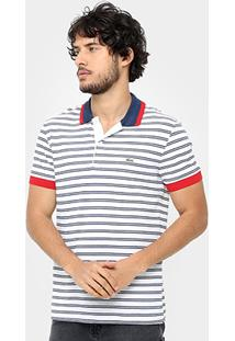 Camisa Polo Lacoste Piquet Fit Listras Color Masculina - Masculino