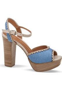 Sandalia Meia Pata Jeans Flamarian - 145175-6 Je