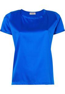 Blanca Blusa Metalizada - Azul