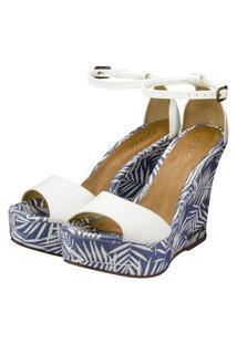 Sandalia Barth Shoes Lazuli Tropical Napa - Branco