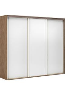 Guarda-Roupa Casal 2,27Cm 3 Portas Inovatto Fosco-Belmax - Ebano / Branco