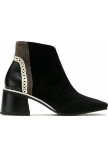 Sarah Chofakian Ankle Boot Treasure De Couro - Preto