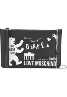 Love Moschino Clutch Berlin - Preto