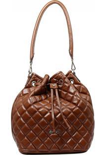 Bolsa De Couro Recuo Fashion Bag Sacola Chocolate
