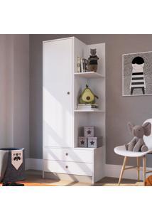 Guarda-Roupa Infantil 1 Porta 2 Gavetas Gr070 Branco - Art In Móveis