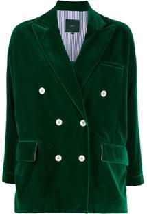 Jejia Blazer Com Abotoamento Duplo - Verde