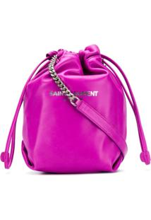 Saint Laurent Bolsa Bucket Teddy - Roxo