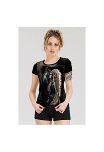 Camiseta Stompy Estampada Feminina Modelo 25 Preta