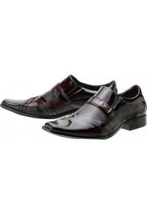 Sapato Social Gofer Verniz - Masculino-Vinho+Preto