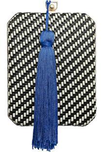 Clutch Em Tressê Com Pingente Azul