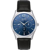 04b512125fa Relógio Hugo Boss Masculino Couro Preto - 1513489
