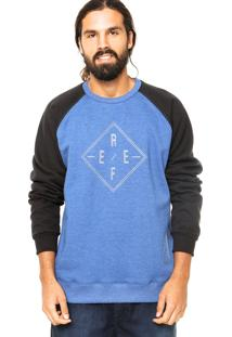 Blusa De Moletom Reef Careca Icy Azul