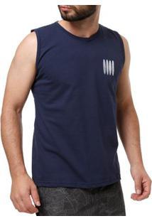 Camiseta Regata Masculina Azul Marinho