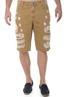 Bermuda Jeans Middle Z-32 Masculino - Masculino-Bege