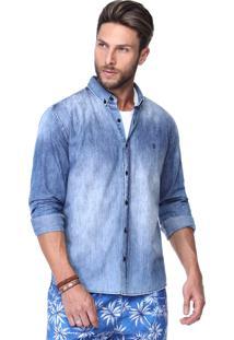 Camisa King&Joe Jeans Azul