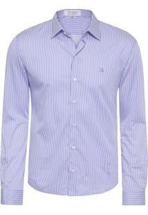 Camisa Masculina Ck08 - Roxo E Branco