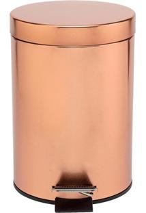 Lixeira Em Inox Com Pedal 3 Litros Rose Gold