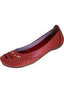 Sapatilha Scarpe Pesponto Vermelho - Tricae